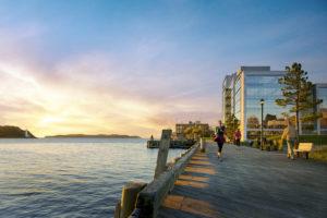 Halifax - waterfront boardwalk - populated