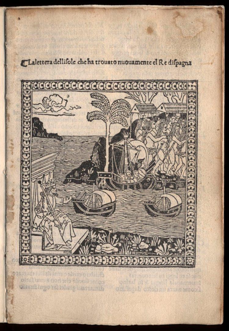 Giuliano Dati, La lettera dellisole che ha trouato nuouamente el Re dispagna (Florence: 1495)