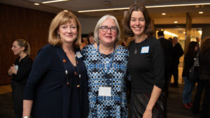 Diane Turbide, Kim Pittaway, Executive Director of Master of Fine Arts in Creative Nonfiction and Hilary McMahon