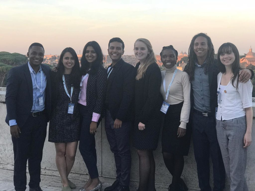 Cassie with the Agrikua team in Rome in October 2018.
