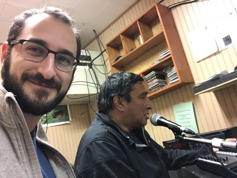 Benjamin Langer This is a picture of me at the Sachigo Lake First Nation radio station giving a health promotion talk about Hepatitis C.