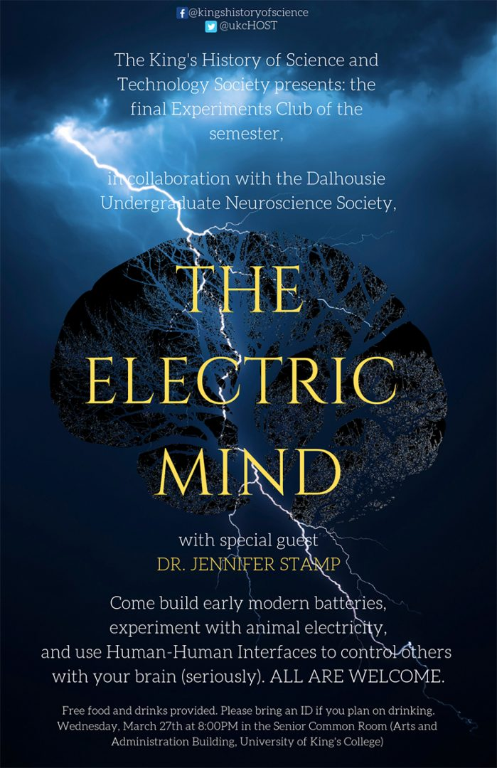 Experiments Club: The Electric Mind | University of King's