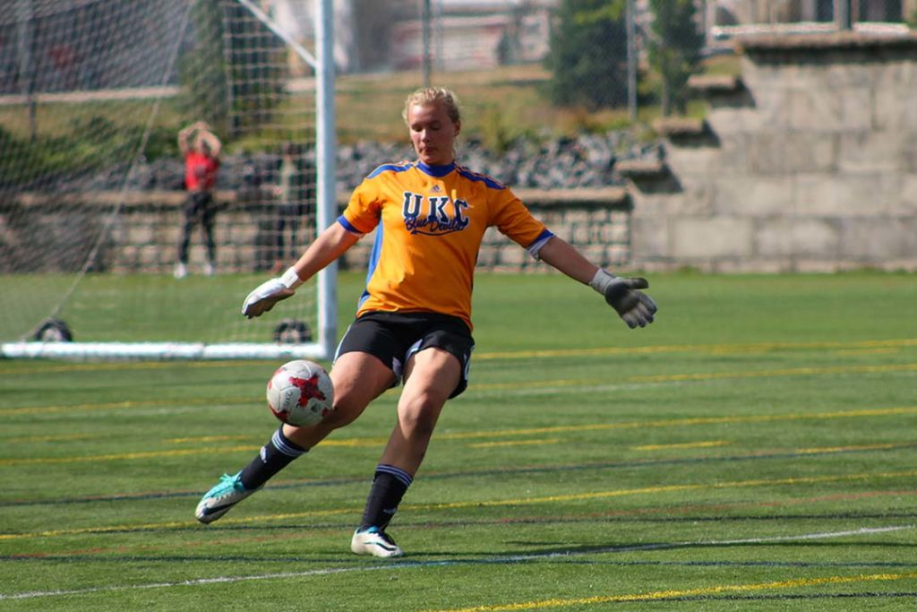 Molly Lash Burrows plays soccer